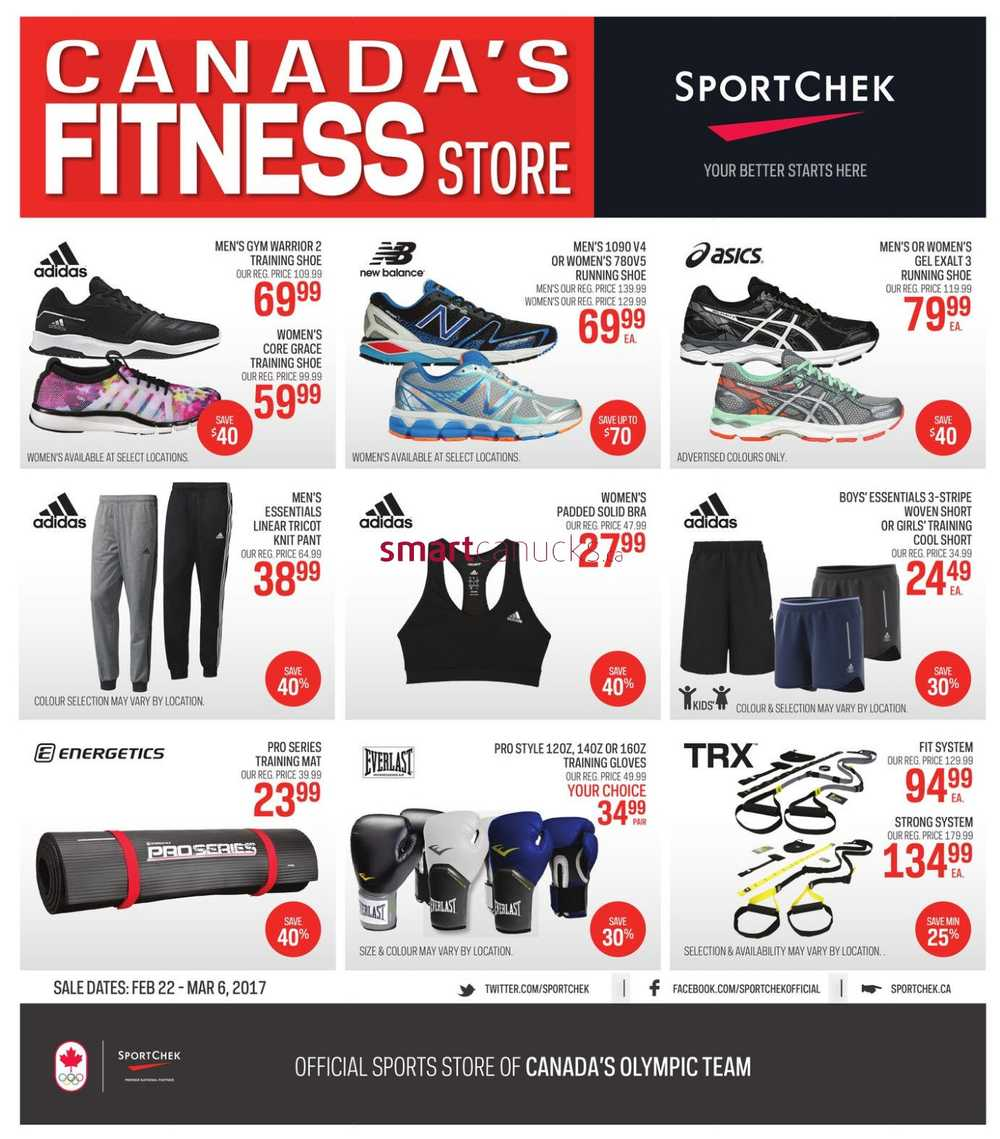 Sport Chek Flyer February 22 to March 6