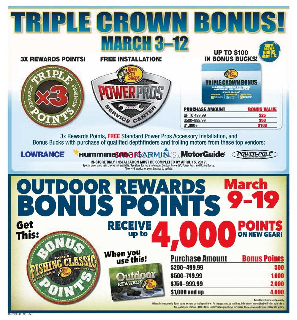 Bass Pro Shops Flyer March 3 to 19