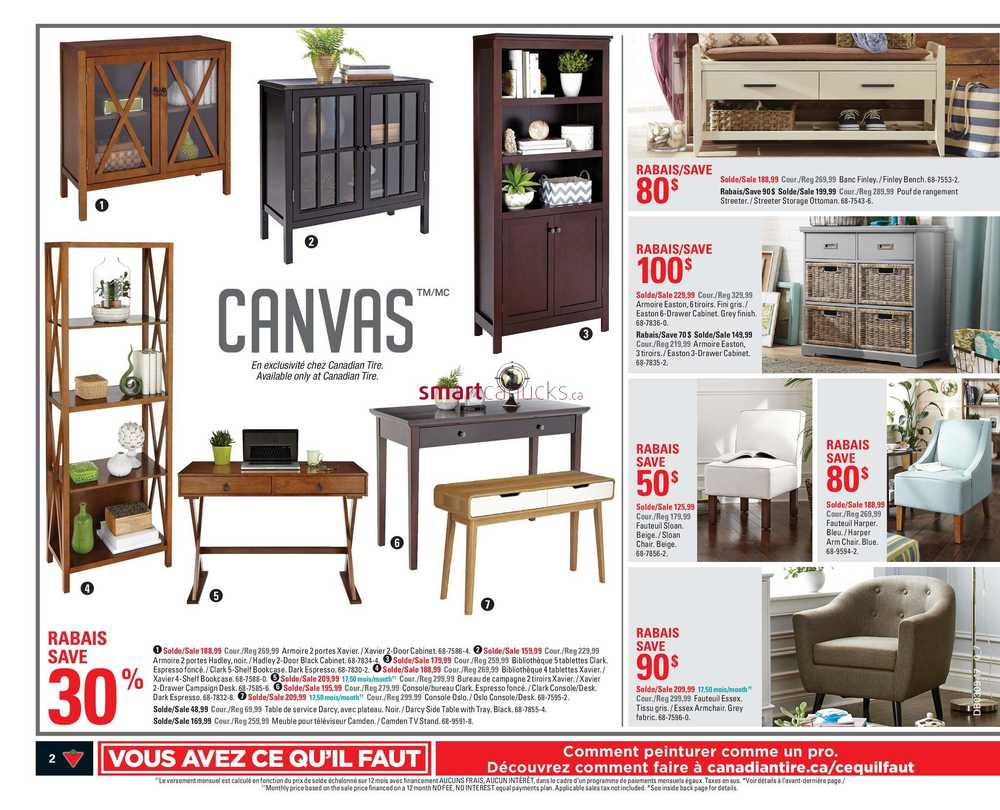 Canadian Tire Qc Flyer February 23 To March 1 # Meuble De Tv Canadian Tire