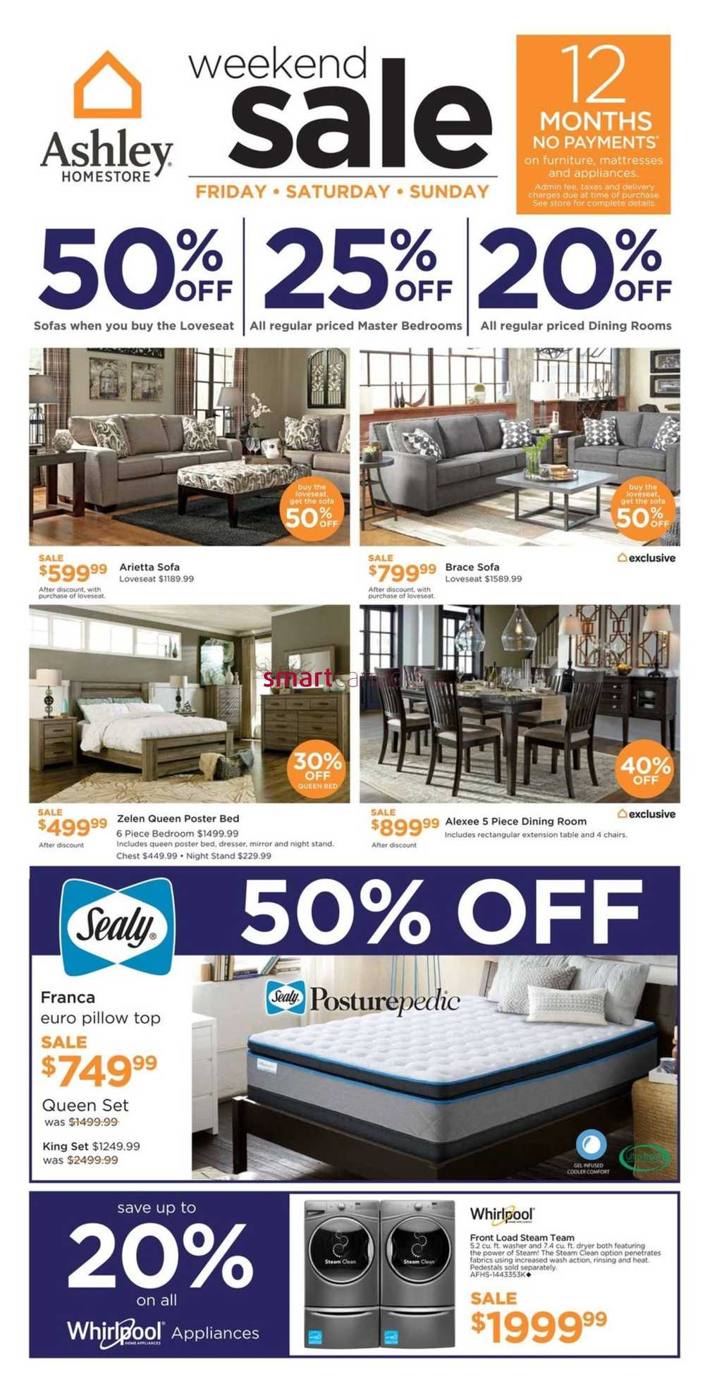 ashley homestore west flyer february 24 to 26. Black Bedroom Furniture Sets. Home Design Ideas