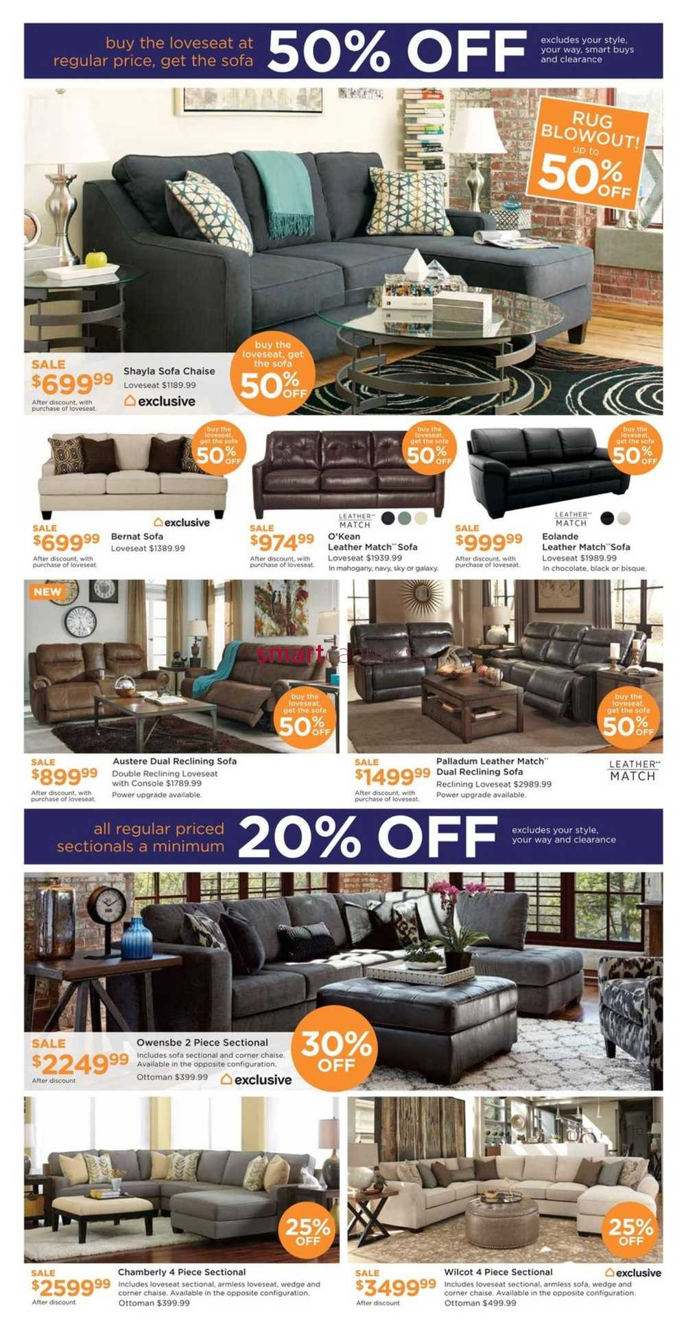 Ashley homestore west flyer february 24 to 26 for Ashley homestore canada