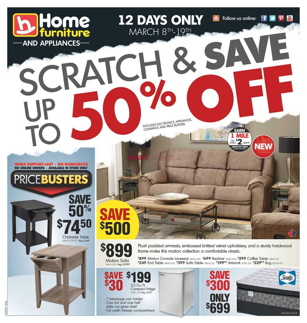 home furniture flyers home furniture on flyer 8 to 19