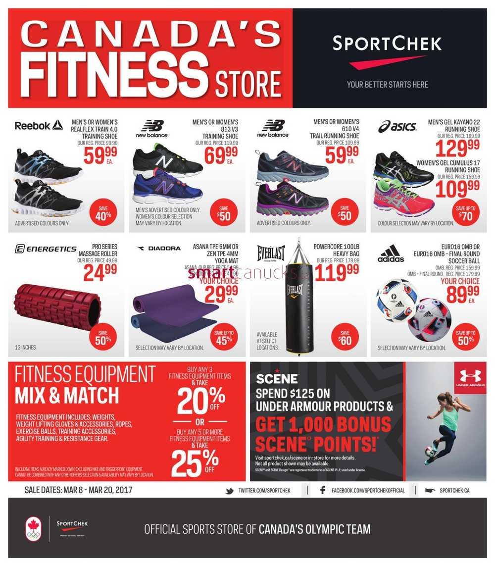sport chek flyer march 8 to 20