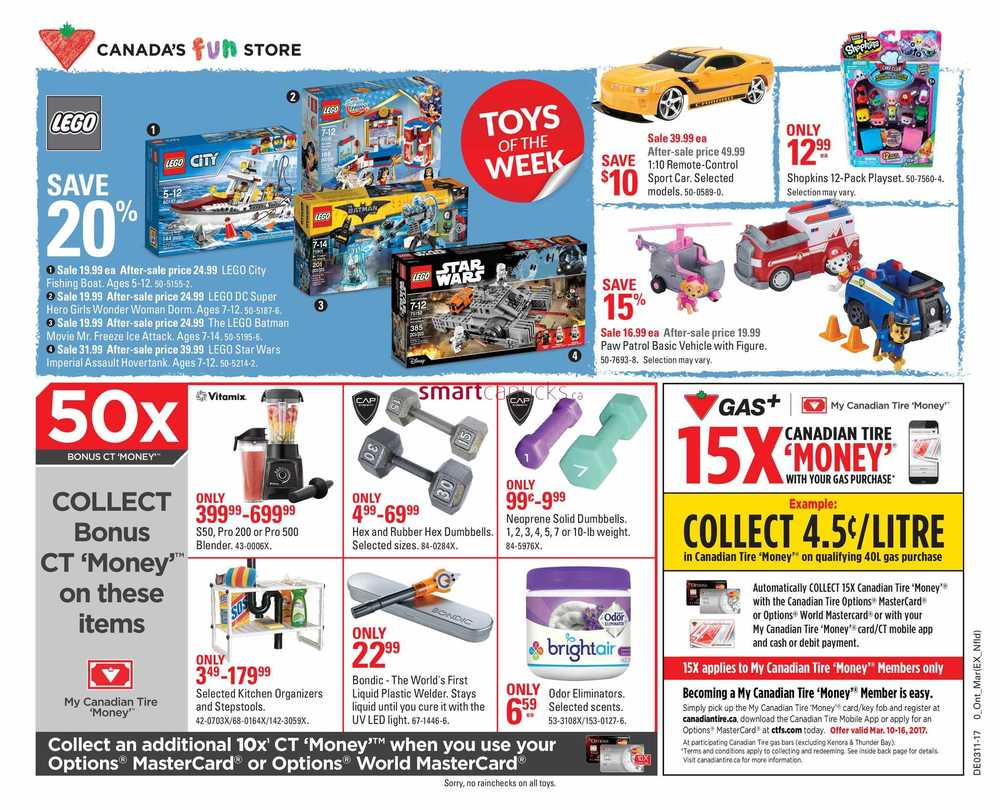 Canadian Tire (ON) Flyer March 10 to 16