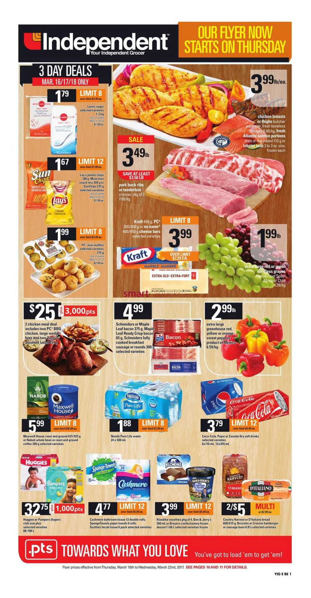 Independent Grocer On Flyer March 16 To 22