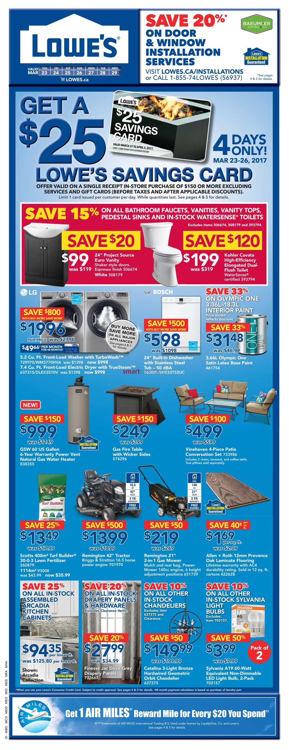 Lowe's Flyer March 23 to 29