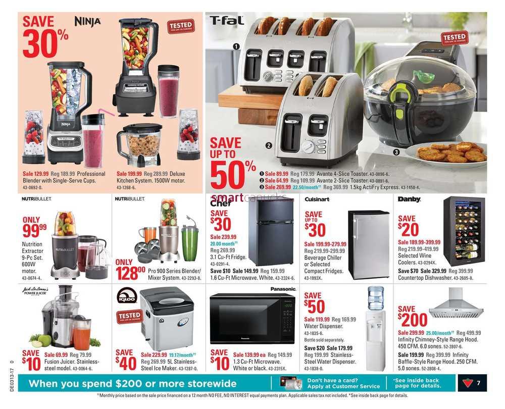 Uncategorized Canadian Tire Kitchen Appliances canadian tire on flyer march 24 to 30 view single