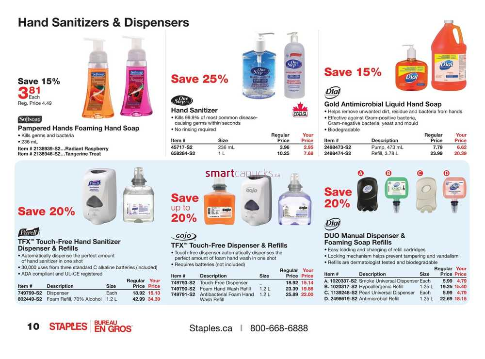 Staples ® Technology Solutions PCs, printers, shredders, Apple ® products and more. Staples Promotional Products ® Custom apparel, drinkware, hats, giveaways and more. Staples® Business Advantage Canada Business solutions for Canadian customers.