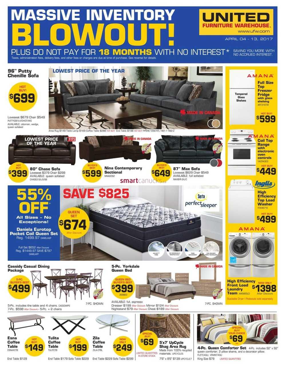 united furniture warehouse canada flyers