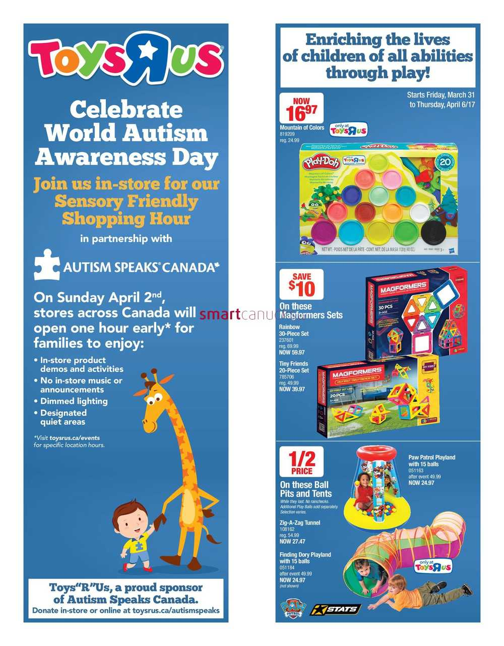 Toys R Us Flyer March 31 to April 6