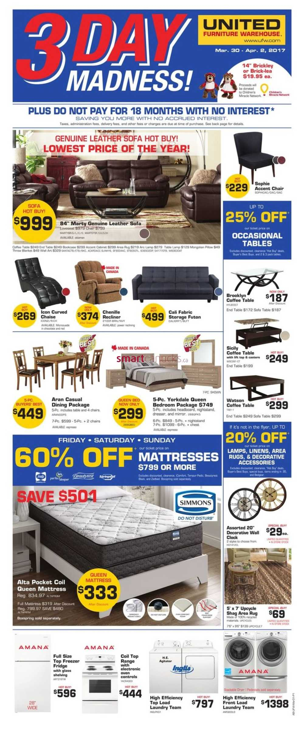Kitchener Surplus Furniture United Furniture Warehouse Canada Flyers