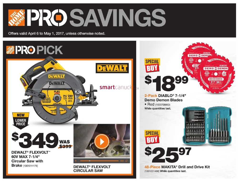 home depot flyers home depot pro savings flyer 6 to 1
