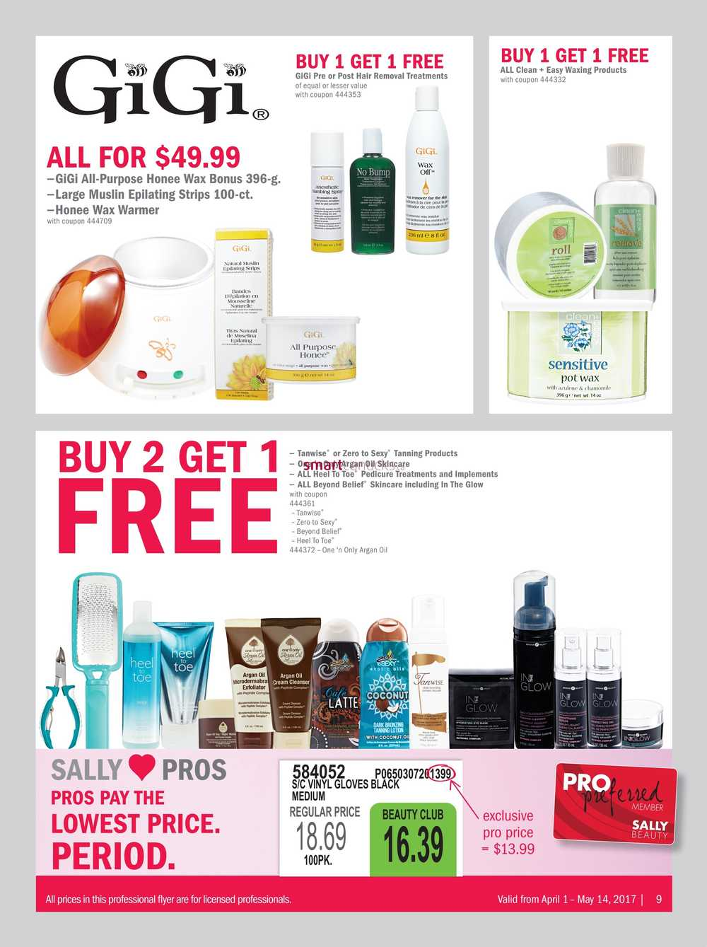 Sally Beauty Supply Pro Flyer April 1 to May 14