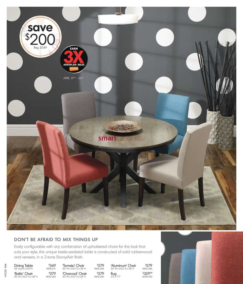 Home Furniture On Flyer April 5 To 30