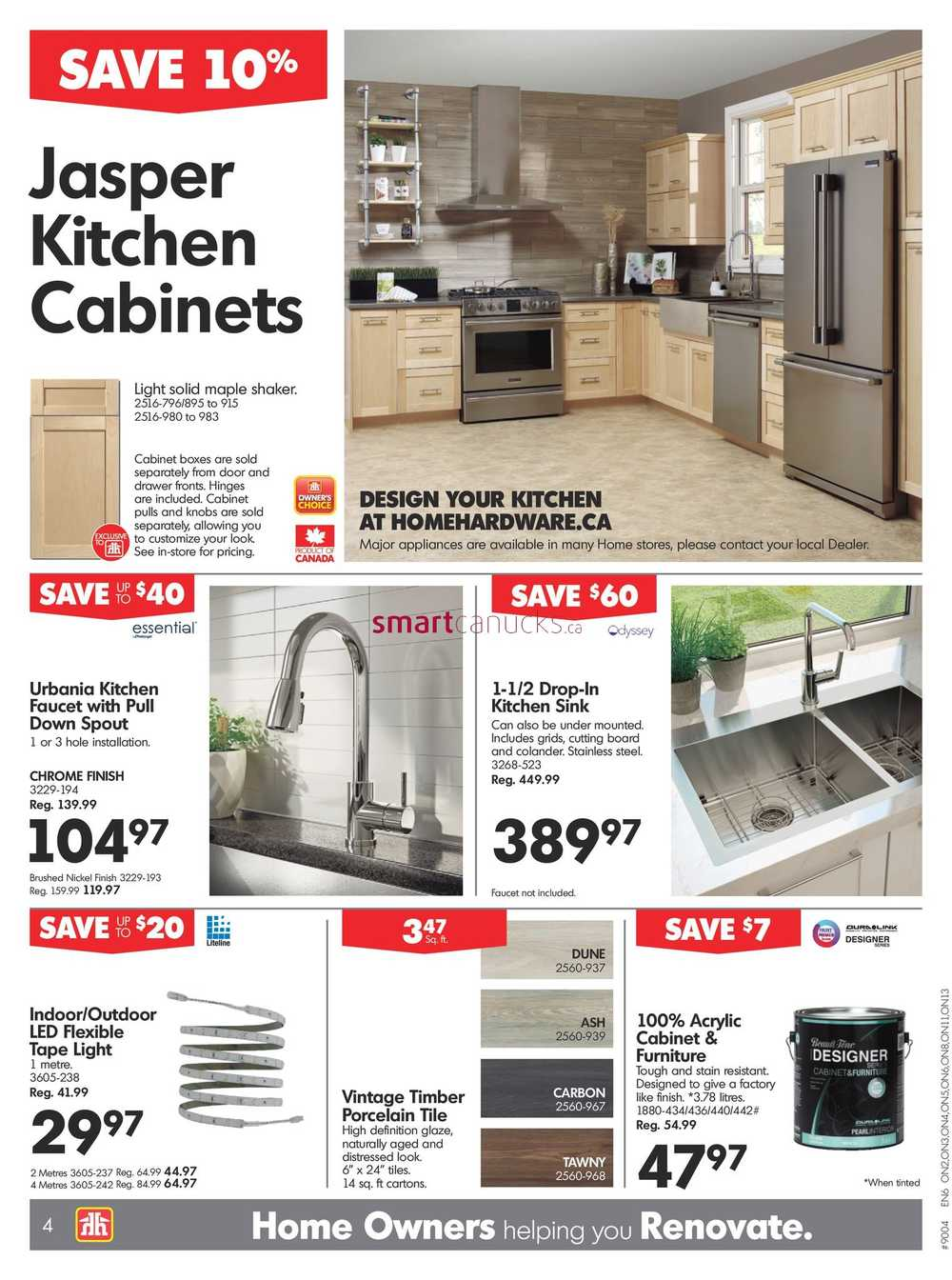 Home Hardware Foyer : Home hardware on flyer april to