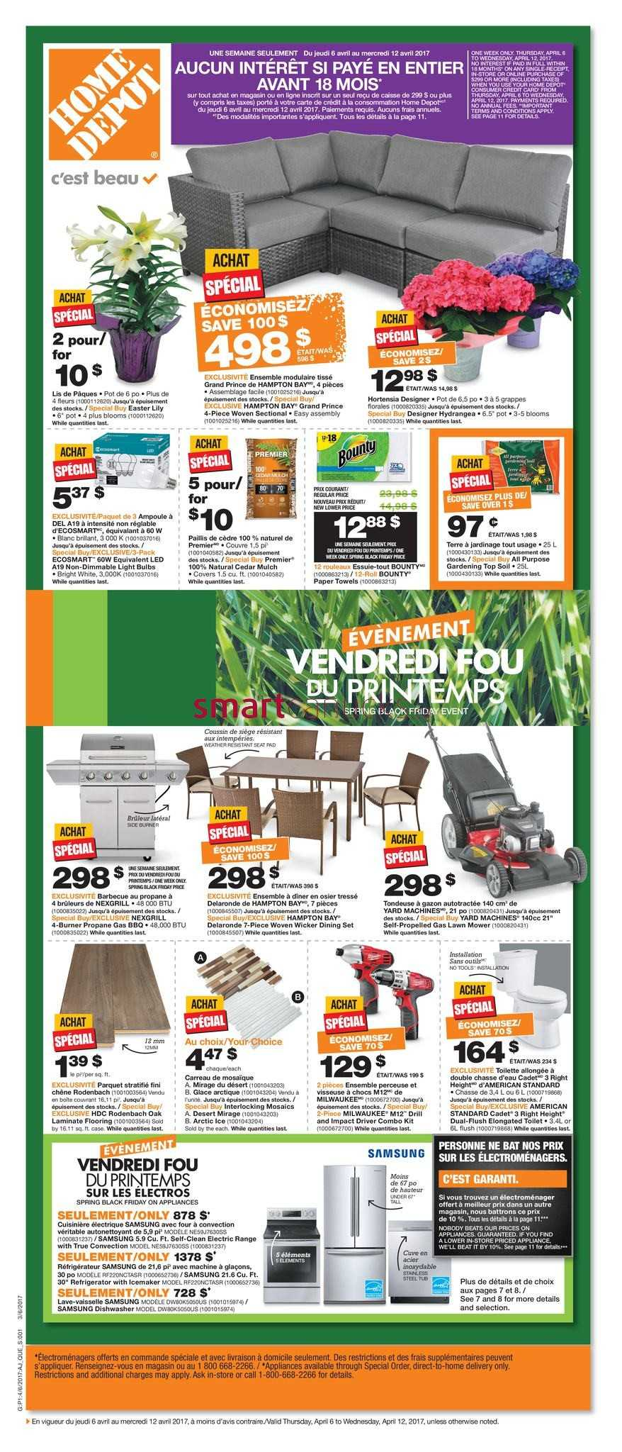 home depot flyers home depot qc flyer 6 to 12
