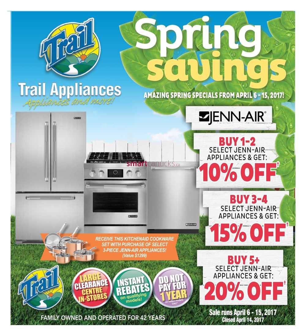 Uncategorized Kitchen Appliances Saskatoon trail appliances canada flyers saskatoon flyer april 6 to 15