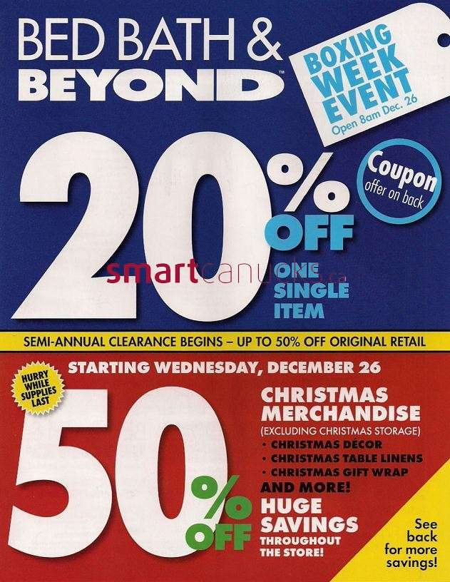 Bed Bath Amp Beyond 2012 Boxing Day Flyer Dec 26 To Jan 2