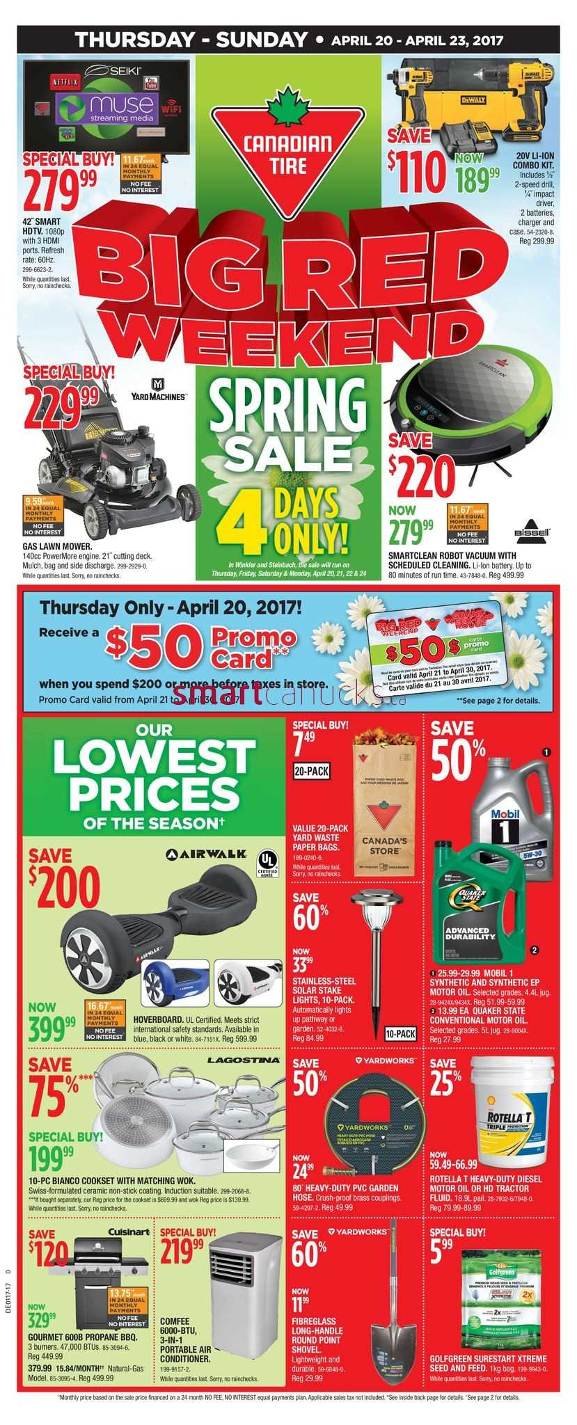canadian tire flyers canadian tire west big red weekend flyer 20 to 23