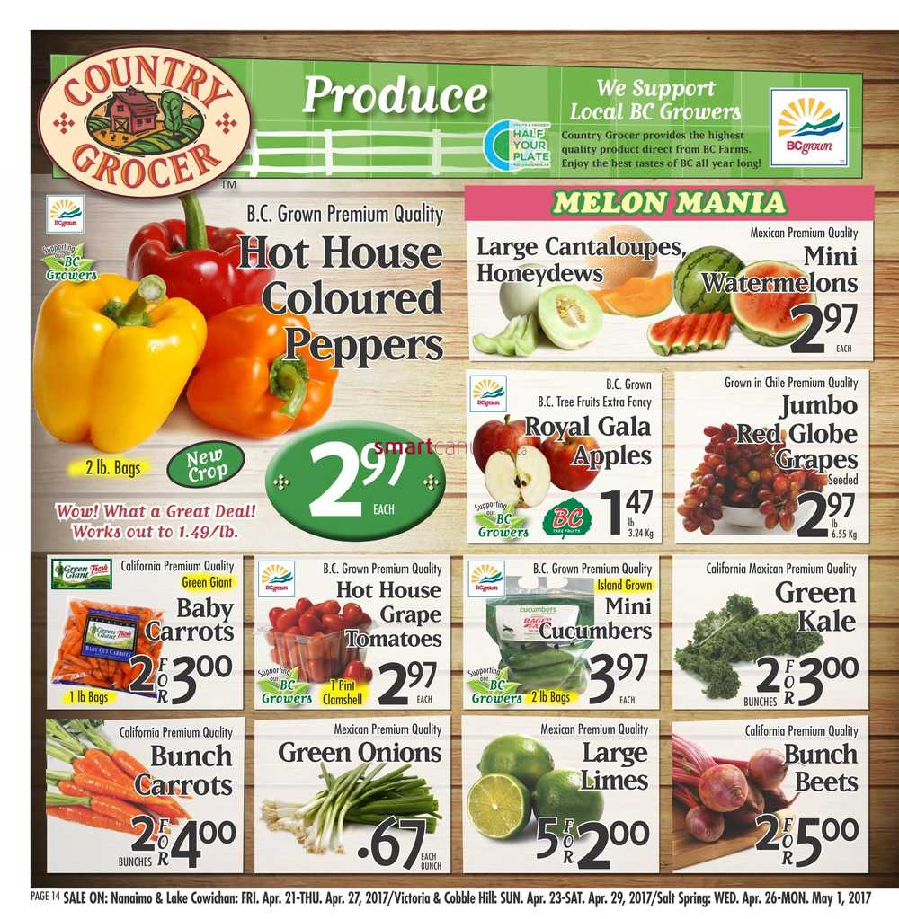 Country Grocer Flyer April 21 To 27