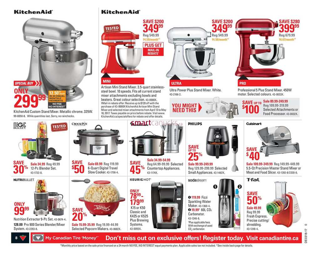 Uncategorized Canadian Tire Kitchen Appliances canadian tire on flyer april 28 to may 4 view single