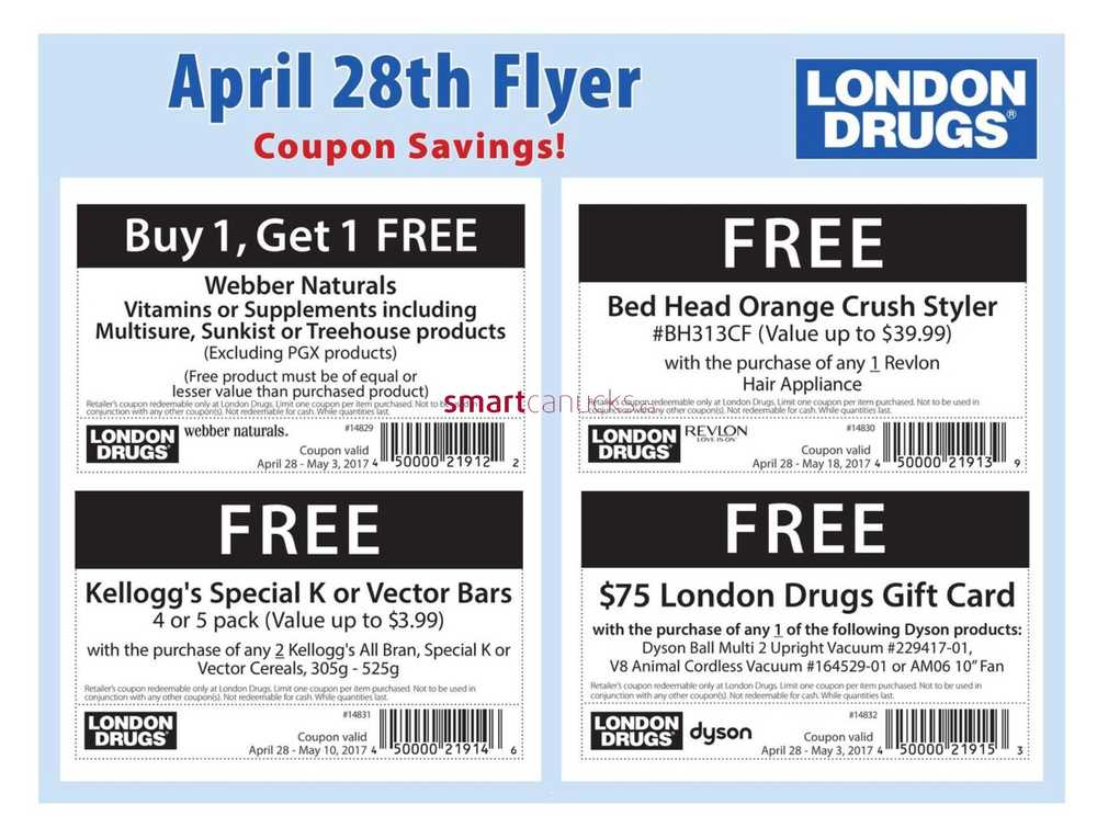 london drugs coupon policy canada