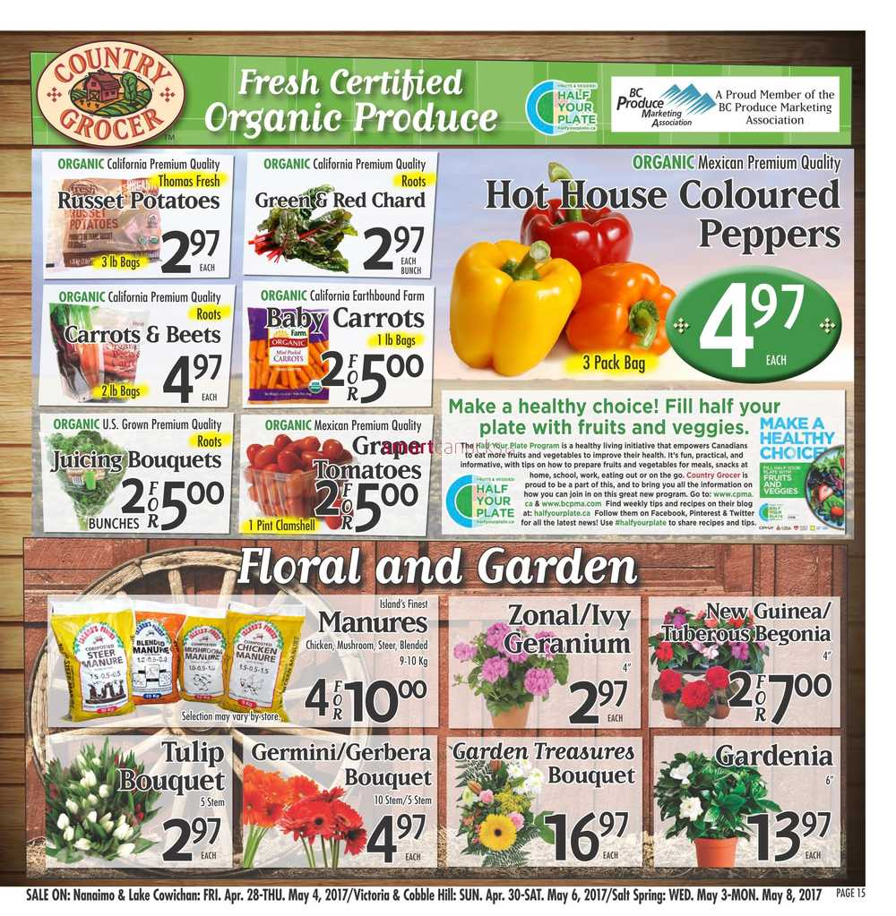 Country Grocer Flyer April 28 To May 4