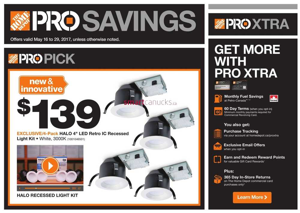 Home Depot Pro Savings Flyer May 16 To 29