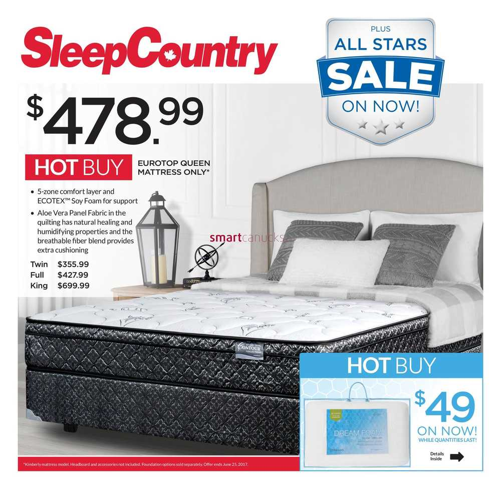 Sleep Country Flyer June 19 To 25