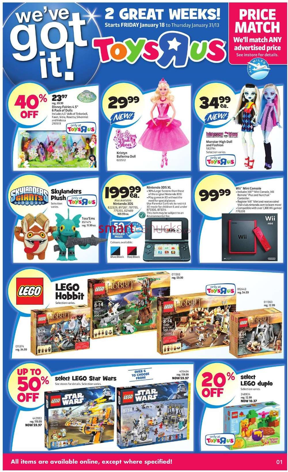 R Flyers Toys R Us flyer Jan 18...