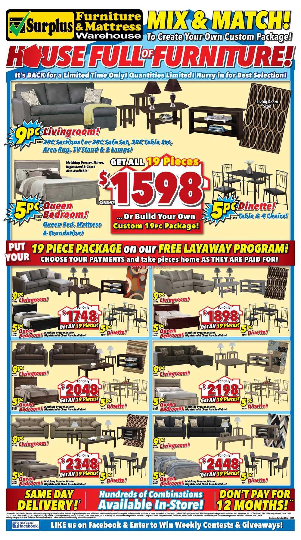 surplus furniture and mattress warehouse canada flyers With surplus furniture and mattress warehouse london