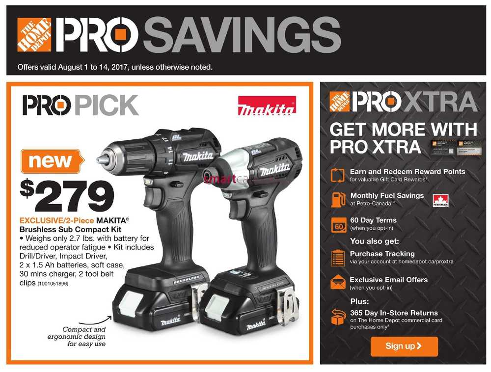 Home Depot Pro Savings Flyer August 1 To 14