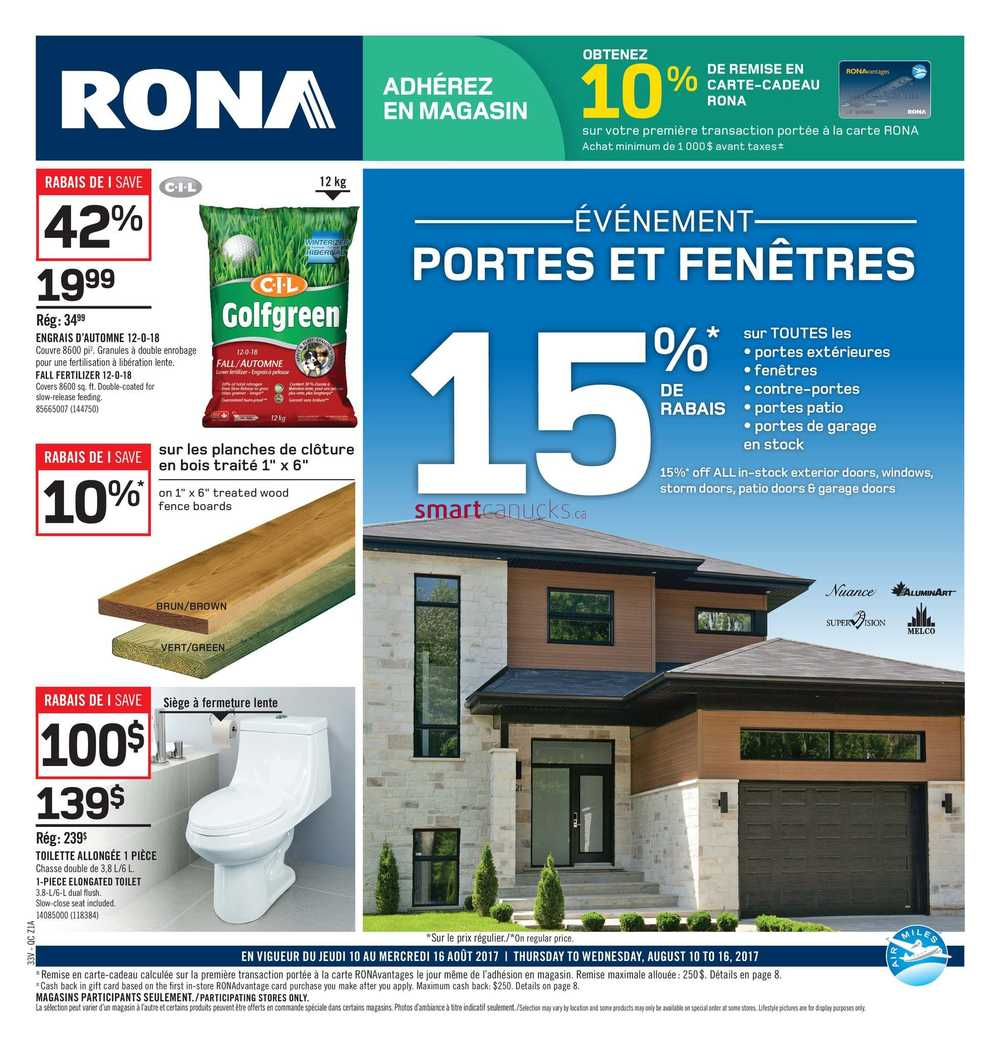 Rona Qc Flyer August 10 To 16