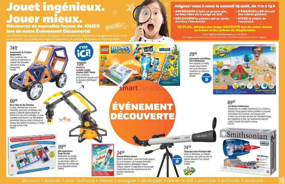 Toys R Us (QC) Wonder Event Flyer August 11 to 24