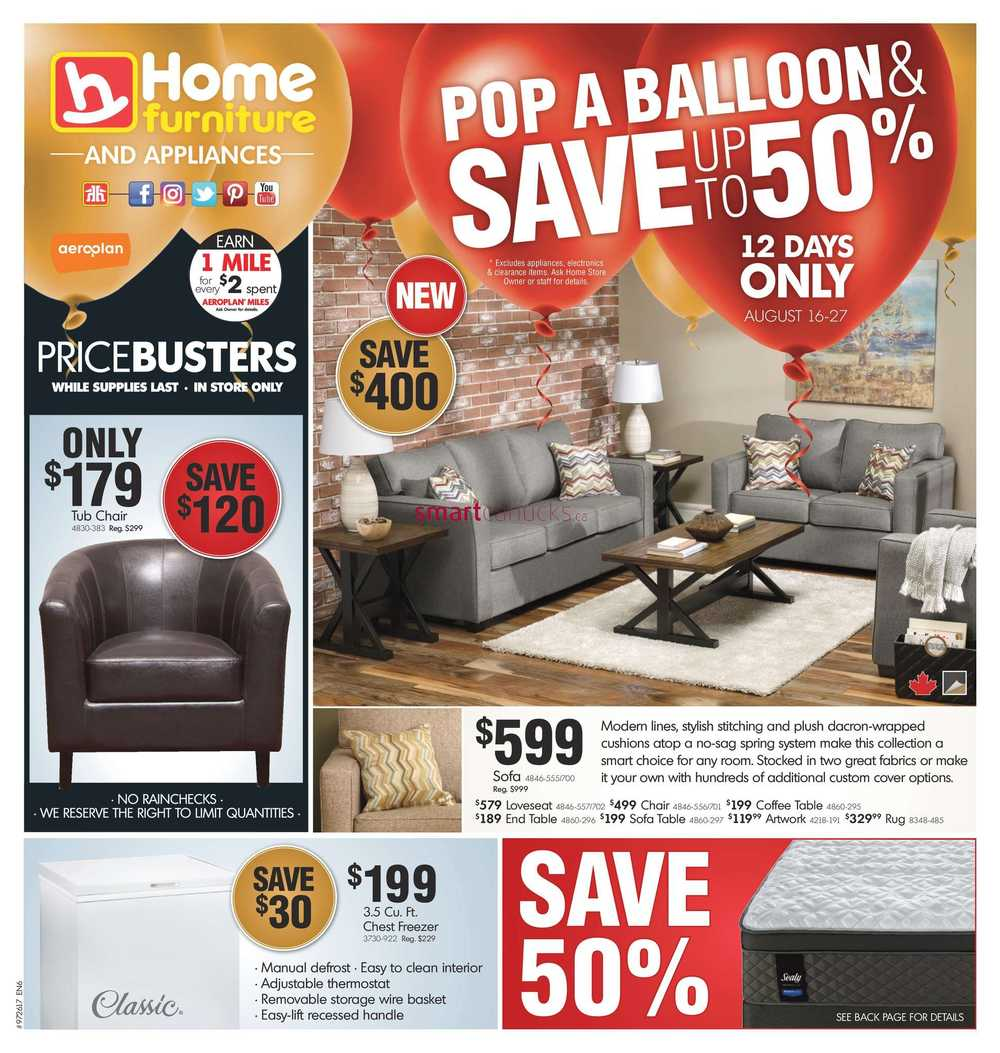 Home furniture canada flyers for P s furniture flyer