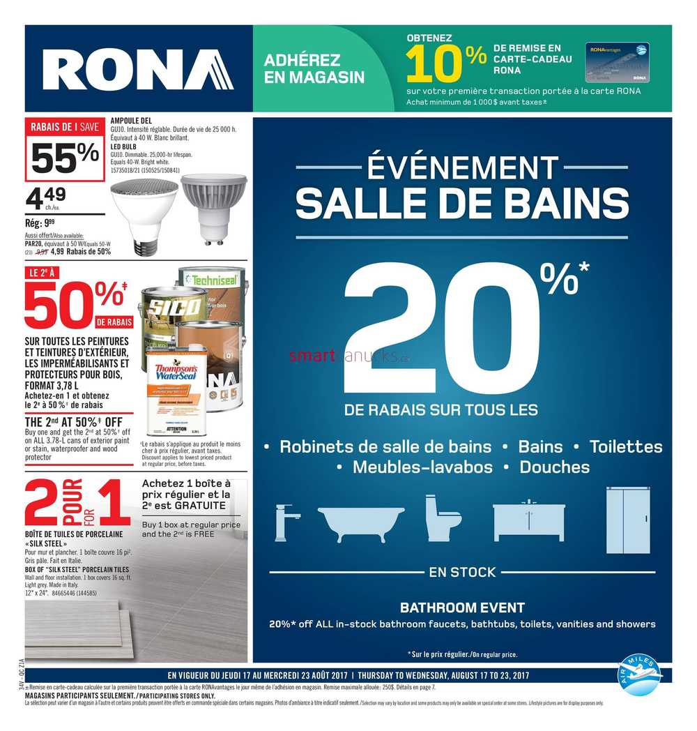 Rona (QC) Flyer August 17 to 23