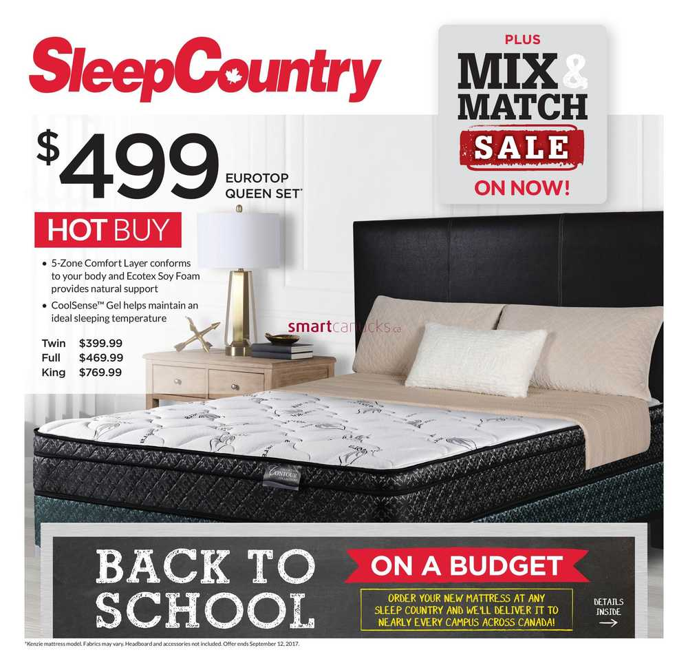 Sleep Country Flyer August 23 To 29