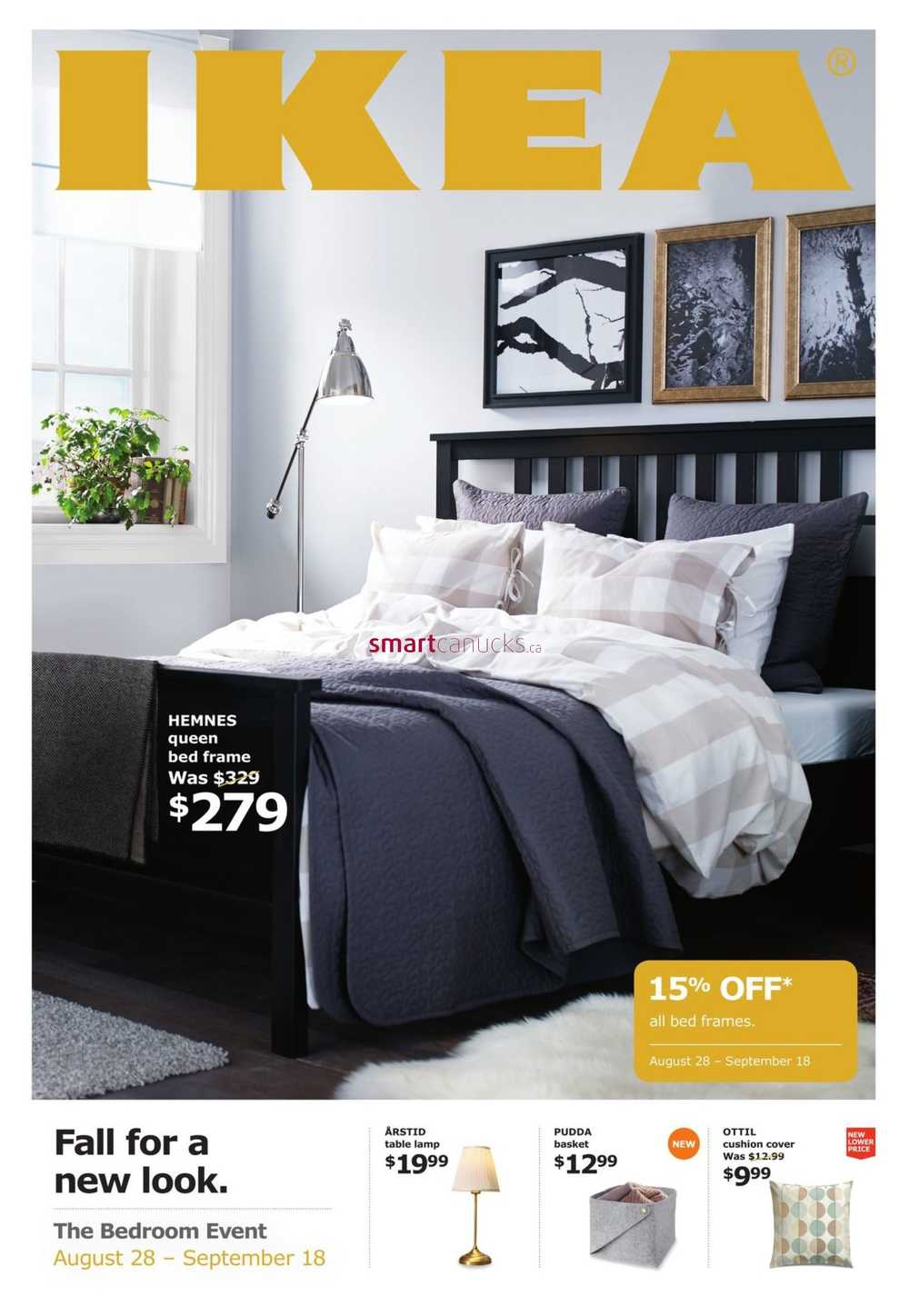 Ikea Bed Frames Event Flyer August 28 To September 18
