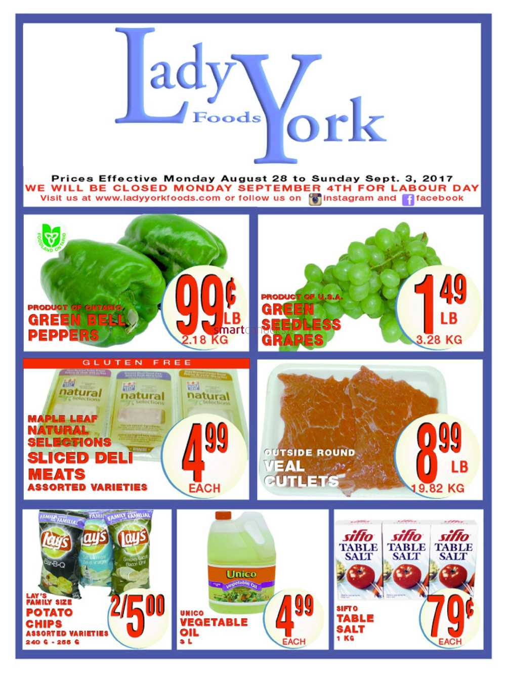 Lady York Foods Canada Flyers