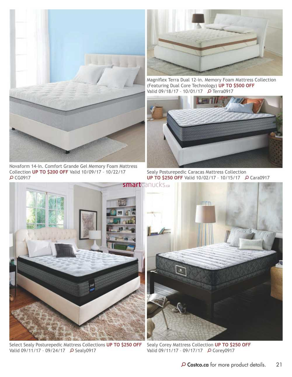 novaform comfort grande. costco online catalogue flyer september 1 to october 31. novaform comfort grande
