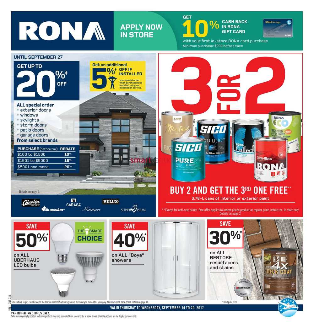 Rona On Flyer September 14 To 20