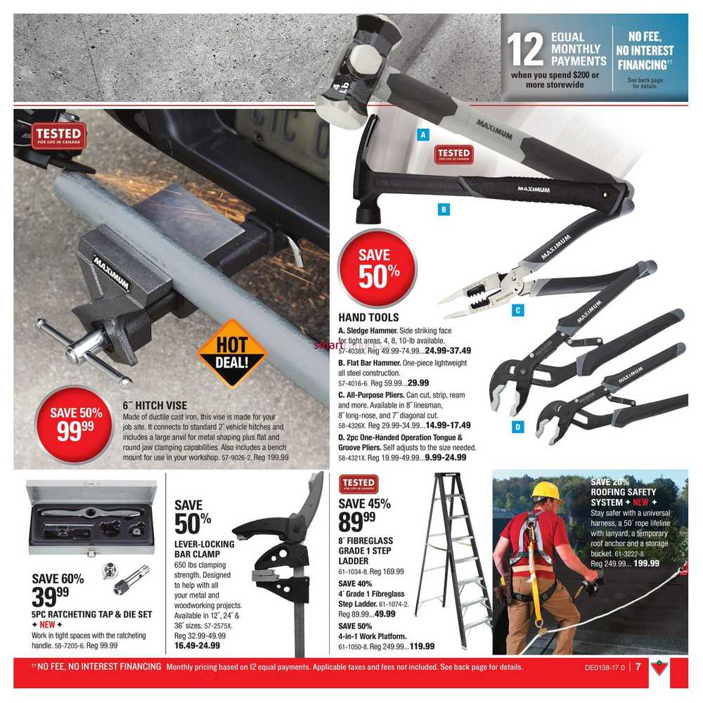 Canadian Tire Tools Guide September 15 To October 5