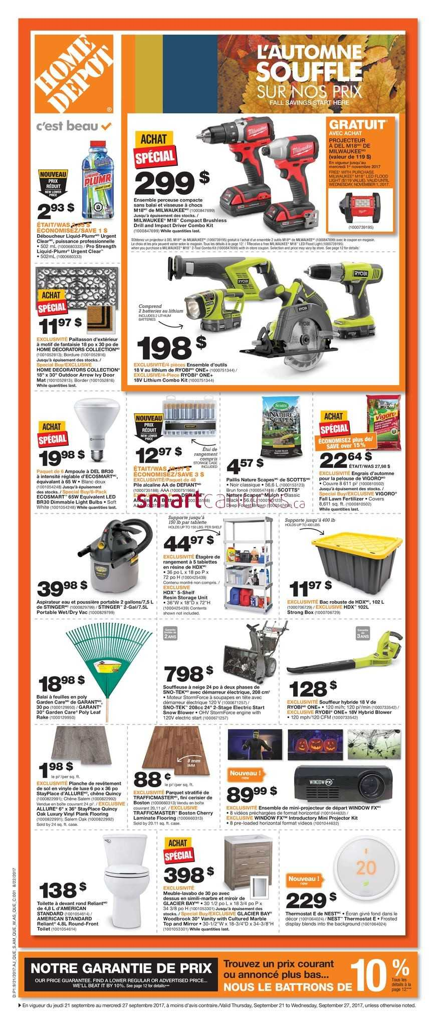 Home Depot QC Flyer September 21 To 27