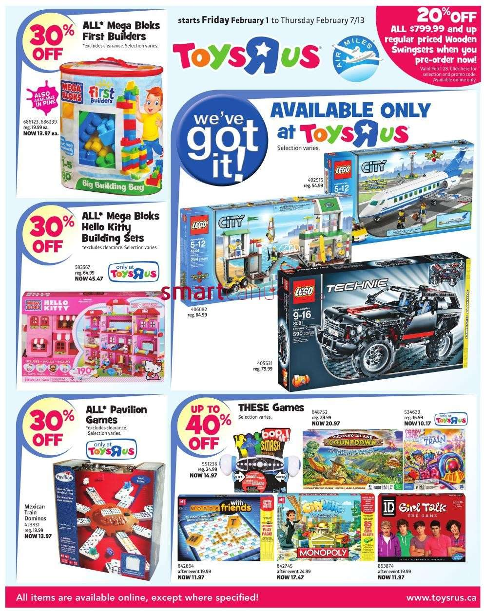R Flyers Toys R Us flyer Feb 1 ...