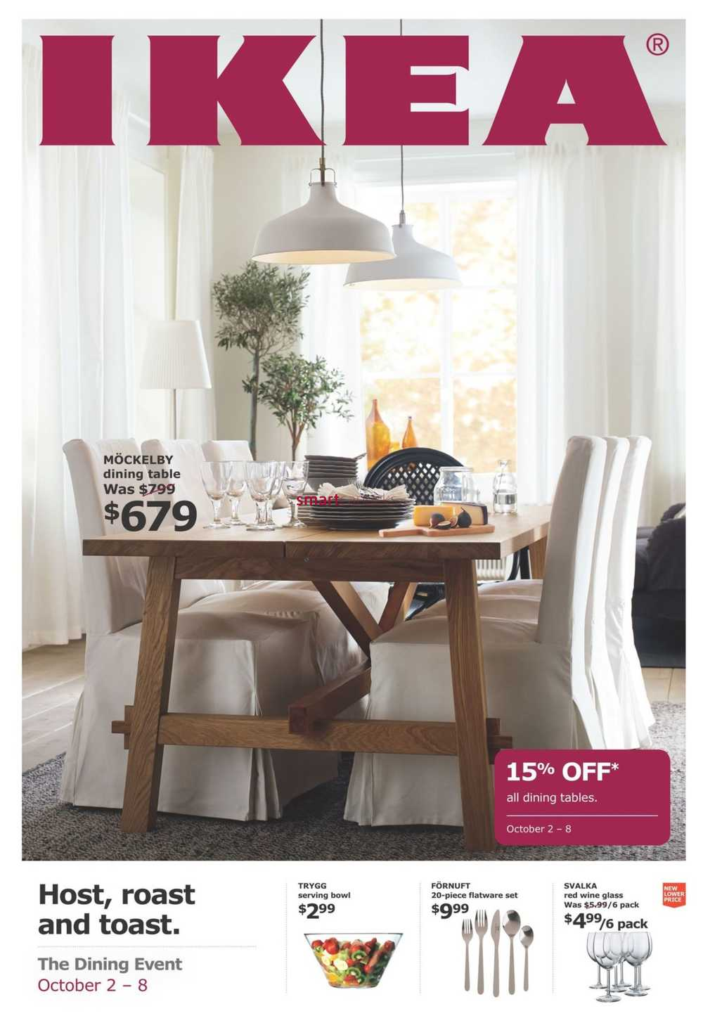 Ikea The Dining Event Flyer October 2 To 8