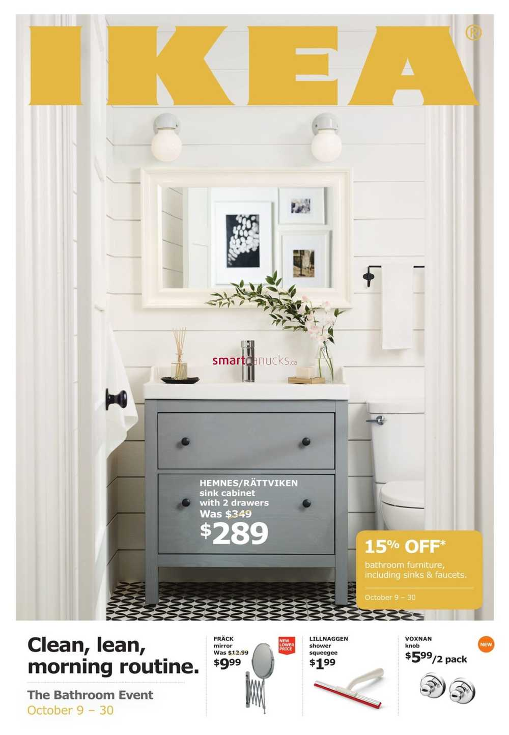 Ikea The Bathroom Event Flyer October 3 to 3