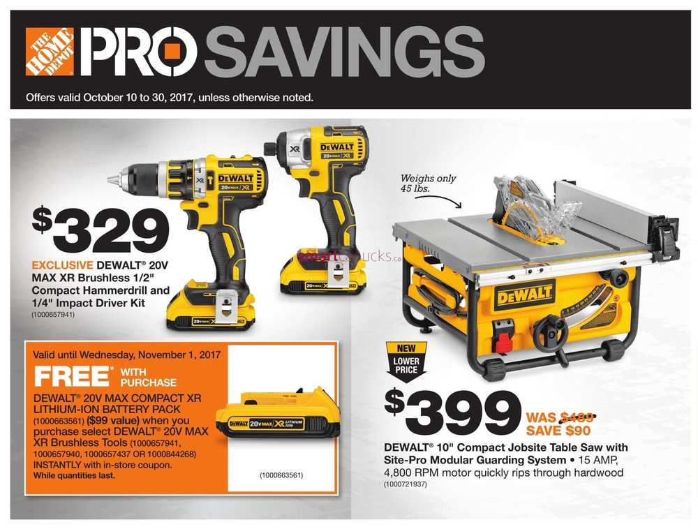 Home Depot Pro Savings Flyer October 10 To 30