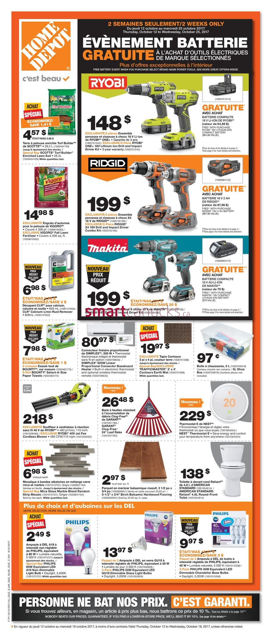 Home Depot QC Flyer October 12 To 18