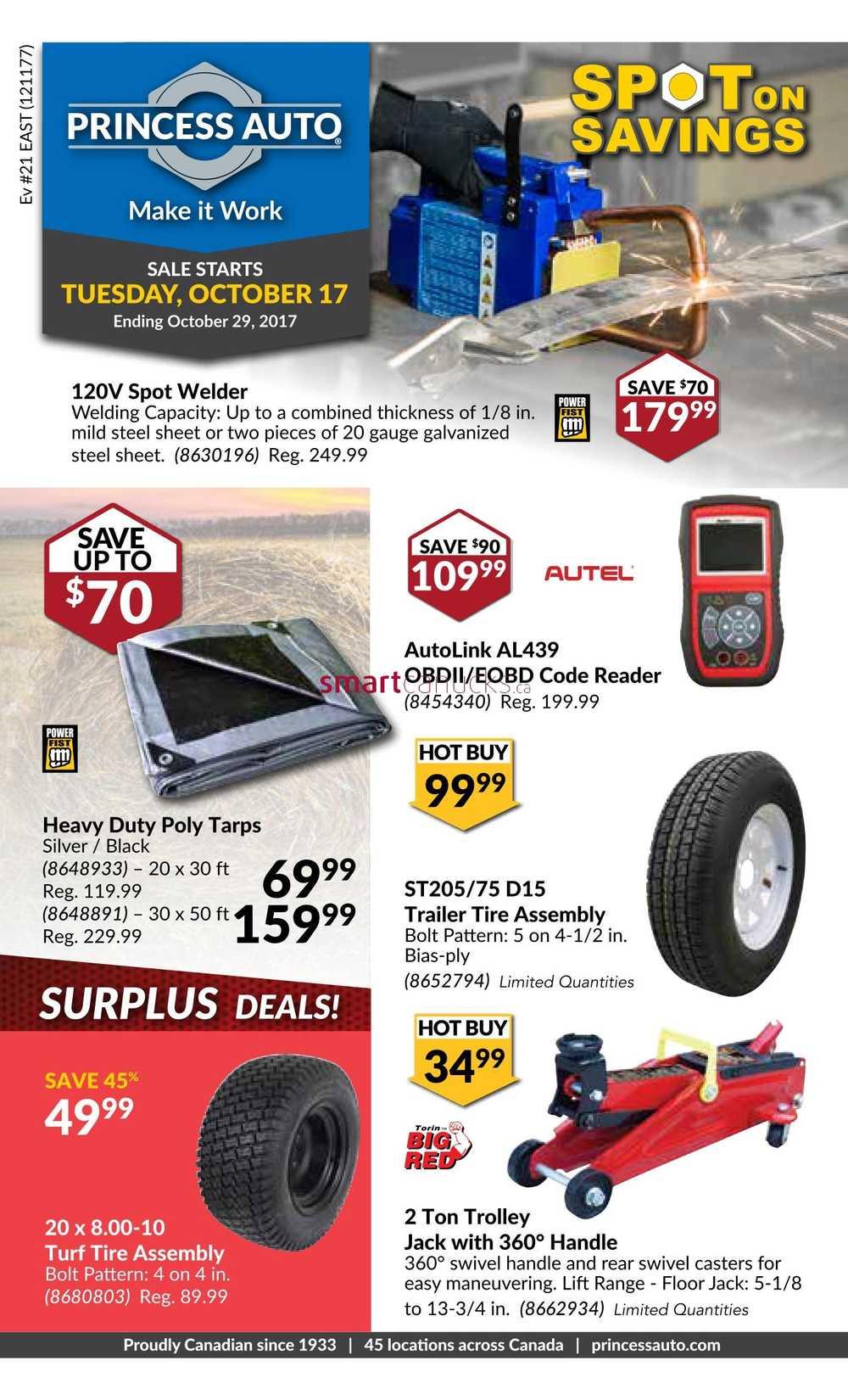 Princess Auto Flyer October 17 to 29
