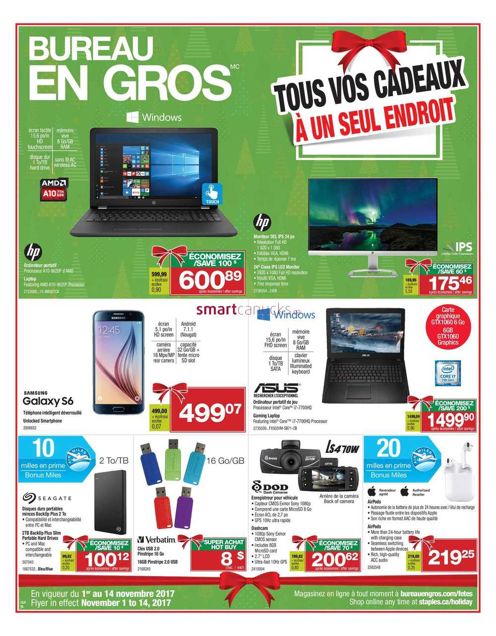 Staples canada flyers for Cocarde bureau en gros